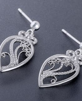 "Laceworks Jewelry ""Minifili Leaf Earrings"""