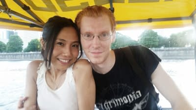 Peter & Hisako on a Pedal Boat in Portland Oregon