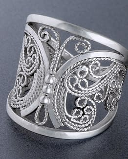 "Laceworks Jewelry ""Butterfly Ring"""