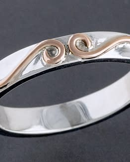 "Laceworks Jewelry ""Ribbon Ring with Rose Gold"""