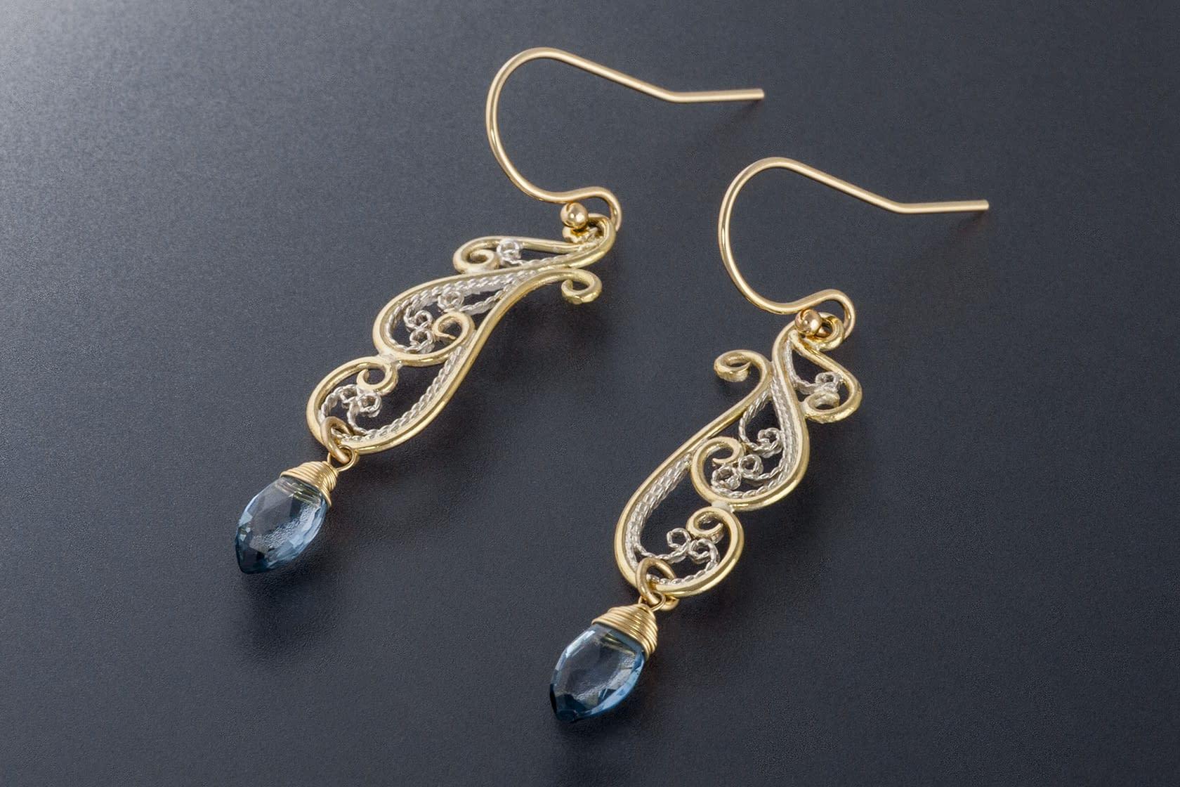 "Laceworks Jewelry ""Art Nouveau Earrings"""
