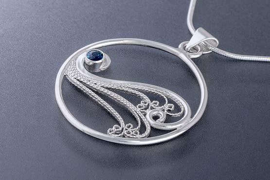 "Laceworks Jewelry ""Ocean Wave Pendant"""