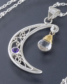 "Laceworks Jewelry ""Moon Pendant"""