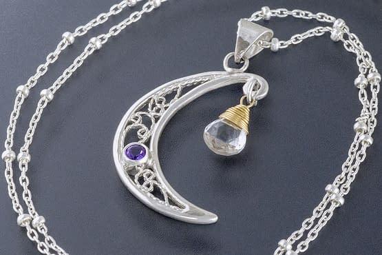 "Laceworks Jewelry ""Moon Pendant"""