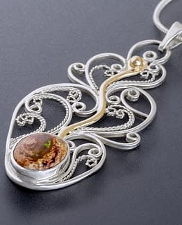 "Laceworks Jewelry ""Fireplant with Fire Opal"""