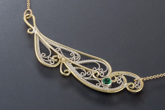 """Laceworks Jewelry """"Feather Necklace"""""""